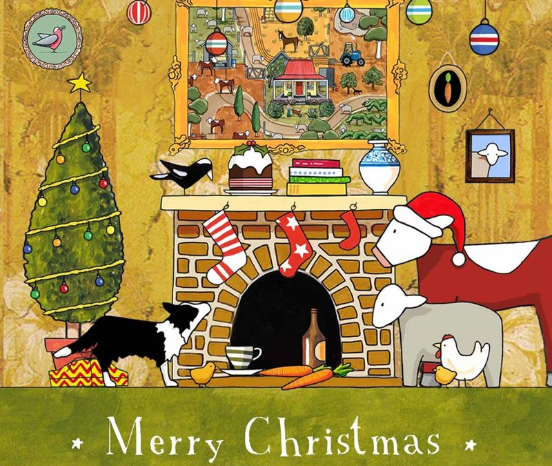 Red Tractor Christmas Cards & Tea Towels Are Now In!
