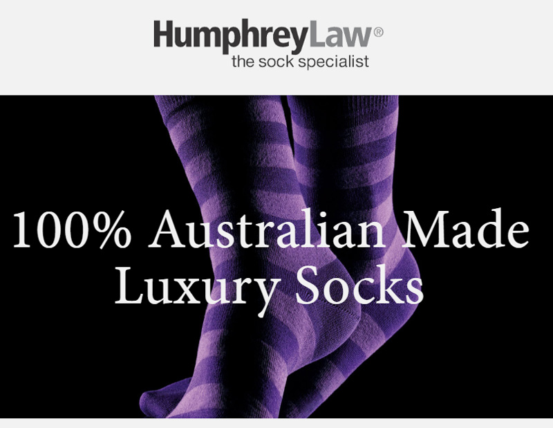 100% Aussie Socks From Humphrey Law