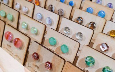 Glass Earrings Made By Samantha Abbott
