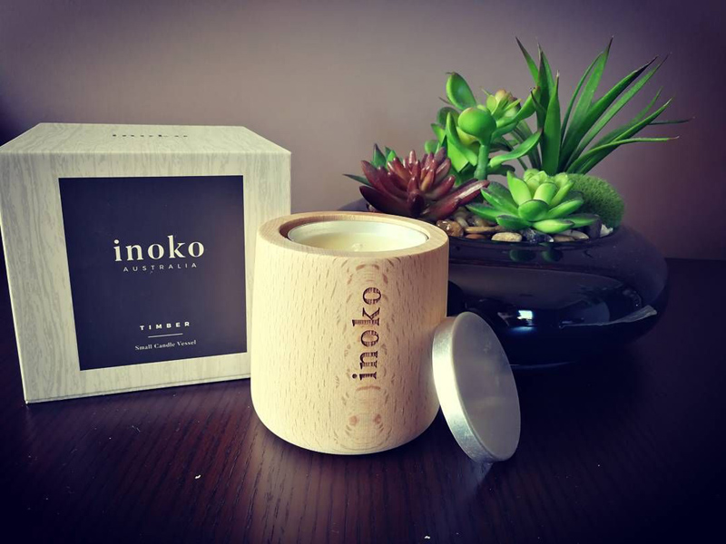 Inoko: Refillable Marble & Timber Candles & Diffusers