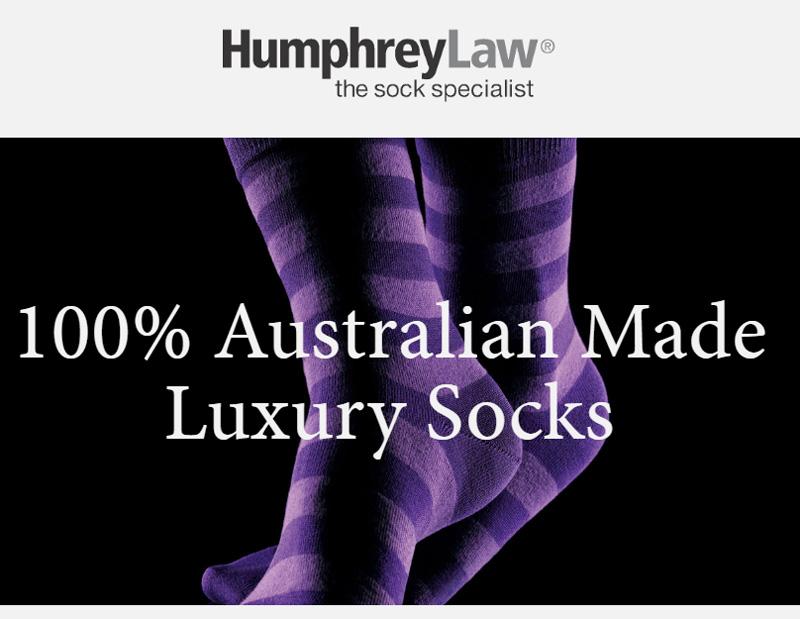 100% Aussie Socks From Humphrey Law