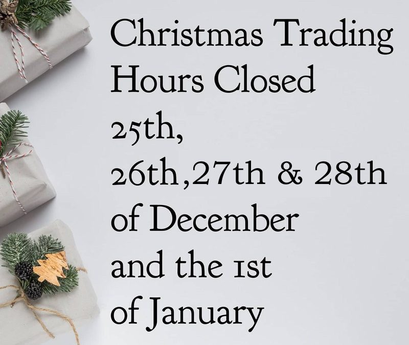 Holiday Trading Hours At Nest & Burrow